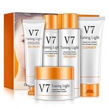 BIOAQUA V7 Toning Light 5 Pieces Skincare Gift Box Set (D31)