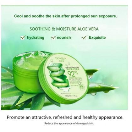 BIOAQUA Natural Aloe Vera Gel Face Cream Acne Treatment Anti-Aging Shrink Pores Cream for Hydrating Moist Repair After Sun 220g