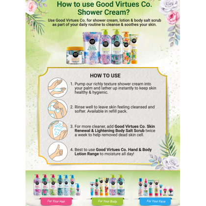 Good Virtues Co Anti-Aging & Hydrating Shower Cream 300ml