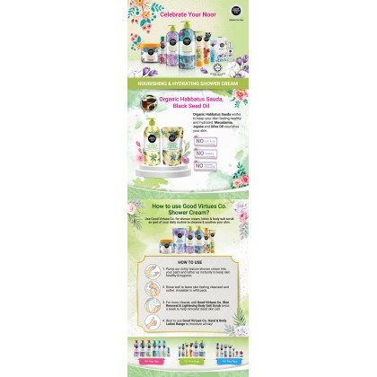 Good Virtues Co GVC Nourishing & Hydrating Shower Cream Refill Pack 600ml
