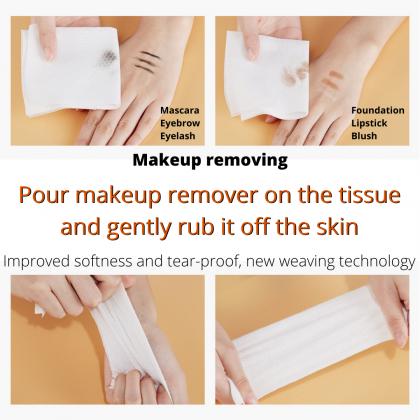 Senana Makeup Remover Facial Cotton Tissue Women Make Up Face Towel