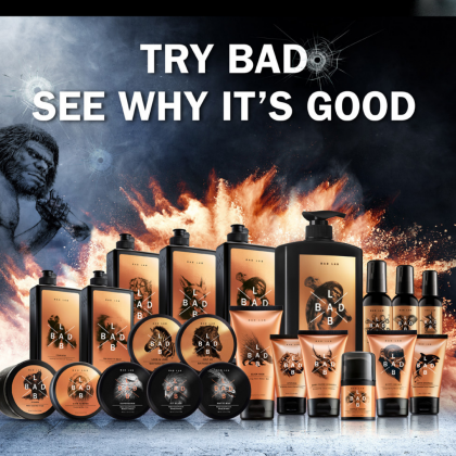 Bad Lab Caveman Cleaner 3-In-1 Hair Face Body Cleaner 800ml Halal Men Turbo Boost Skincare Shower Moisturizing Facial Hair Care
